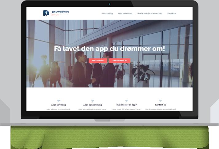 Ny hjemmeside med responsivt design og fuld support