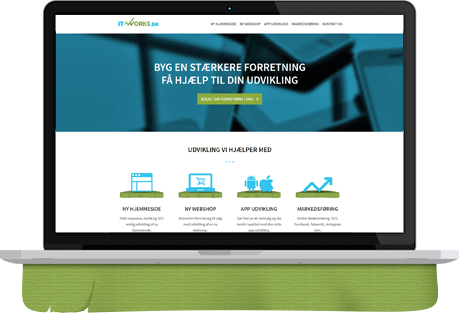 Udvikling af ny hjemmeside med responsivt design